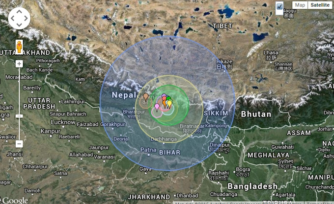 землетрясение непал