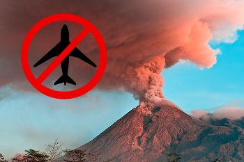 Аэропорт на Бали закрыт из-за извержения вулкана