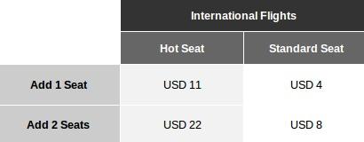 airasia extra seat