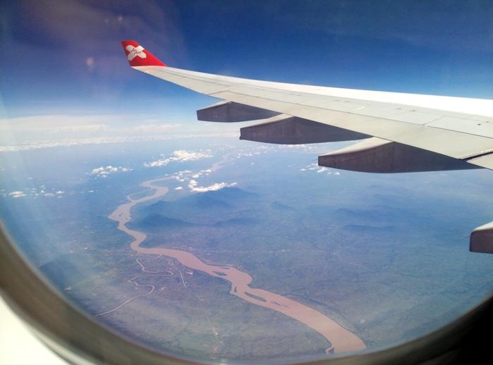 airasia вид из окна самолета
